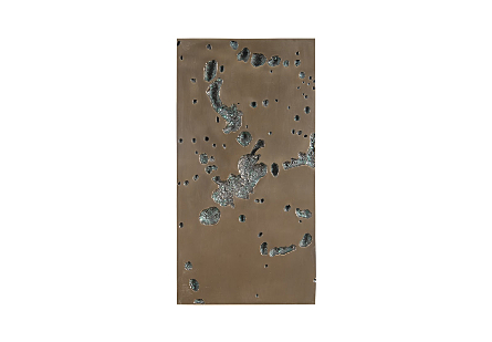 Splotch Wall Art Rectangle, Bronze Finish