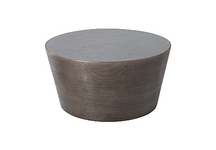 Kono Coffee Table Bronze Finish with Concrete Top