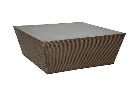 Kono Coffee Table Rectangle Bronze Finish with Concrete Top