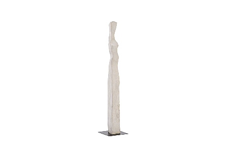 Phillips Collection Colossal Ivory Cast Woman Sculpture D is an abstracted female form that is very tall in an ivory finish