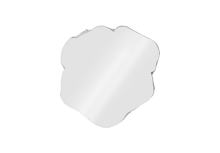 Log Cocktail Mirror, Silver