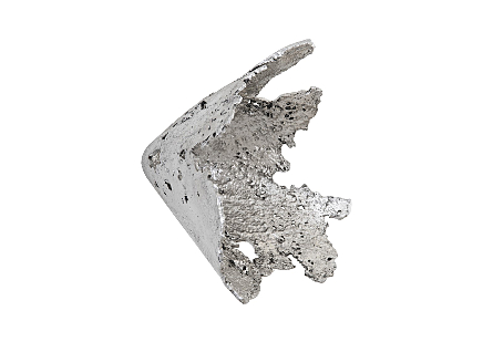 Semi-Perforated Splash Bowl Wall Art Silver Leaf