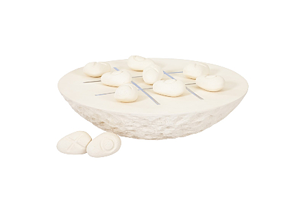 Tic-Tac-Toe Stone Large, Off-White