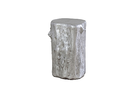 Log Stool Silver Leaf, SM