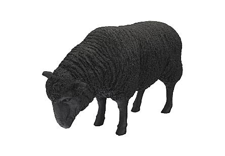 Sheep Sculpture Black