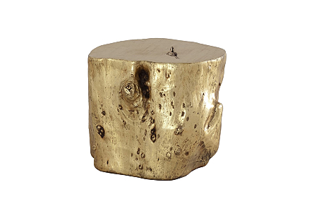 Log Stool Gold Leaf, LG