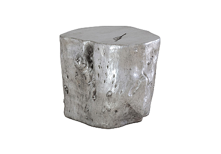Log Stool Silver Leaf, LG