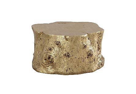 Log Coffee Table Gold Leaf