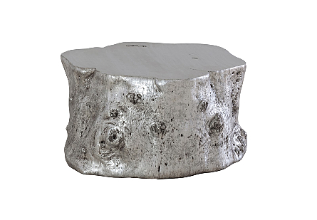 Log Coffee Table Silver Leaf