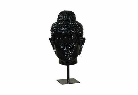 Spiritual Buddha Head Black