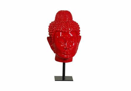 Spiritual Buddha Head Red