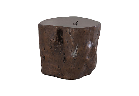 Log Stool Bronze, LG