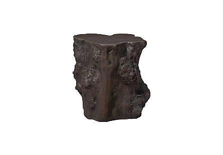 Log Side Table Bronze