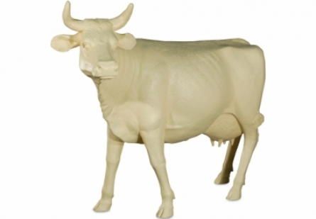 Life Size Cow Head Up, Off White