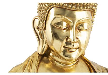 Enchanting Buddha Gold Leaf