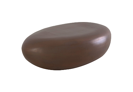 River Stone Coffee Table Small, Resin, Bronze Finish