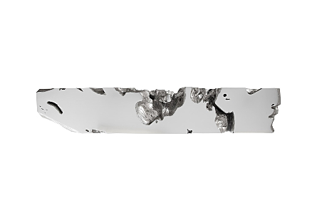 Freeform Console Table Silver Leaf, LG