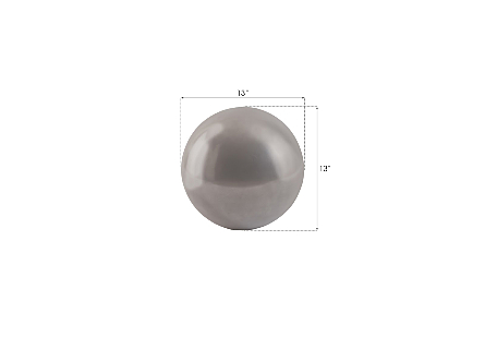 Floor Ball Small, Polished Aluminum Finish