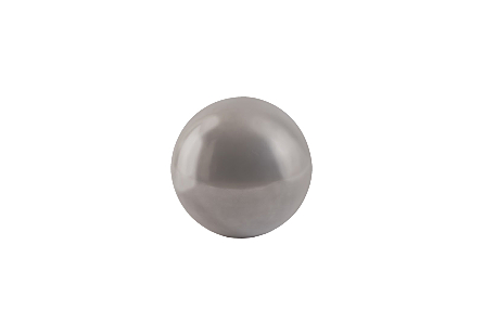 Floor Ball Polished Aluminum, SM