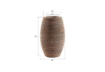 Elonga Planter Natural Weave, SM