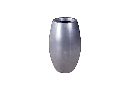 Elonga Planter Polished Aluminum, SM