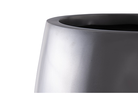 Elonga Planter Polished Aluminum, LG