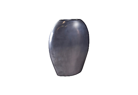 Pod Sculptural Vase Polished Aluminum, LG