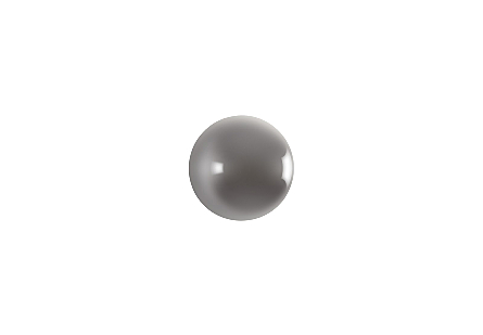 Ball on the Wall Polished Aluminum, XS