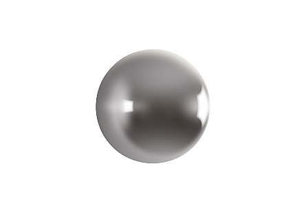 Ball on the Wall Medium, Polished Aluminum Finish