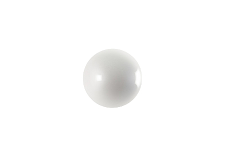 Ball on the Wall Small, Pearl White