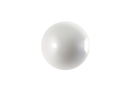 Ball on the Wall Medium, Pearl White