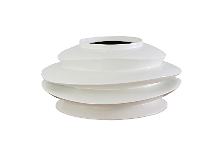 Spiral Planter White, Short