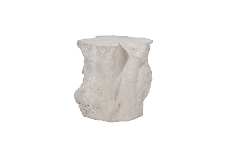Log Side Table Roman Stone