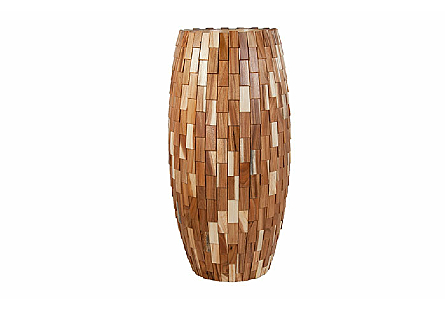 Elonga Planter Light Wood Overlap, LG