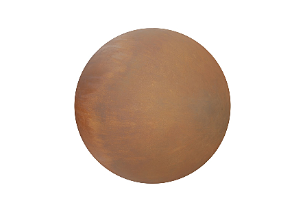 Ball on the Wall Large, Resin, Rust Finish