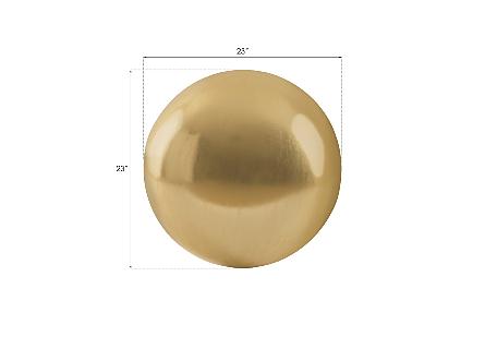 Floor Ball Large, Gold Leaf
