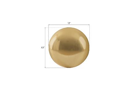 Floor Ball Small, Gold Leaf