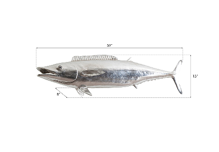 Wahoo Fish Silver Leaf