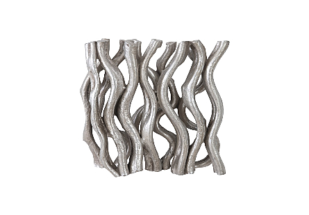 Vine Wall Tile Silver Leaf
