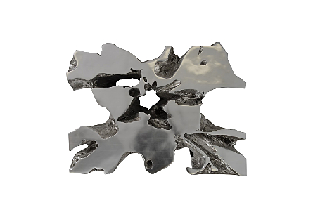 Venice Freeform Coffee Table Silver Leaf