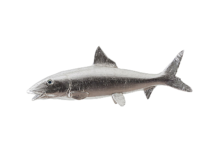Bonefish Wall Sculpture Resin, Silver Leaf