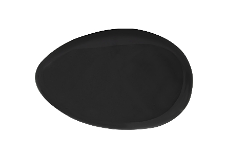 River Stone Coffee Table Large, Gel Coat Black