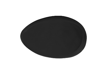 River Stone Coffee Table Small, Gel Coat Black