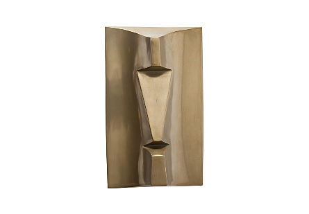 Kio Rapa Nui Wall Art Polished Brass Finish
