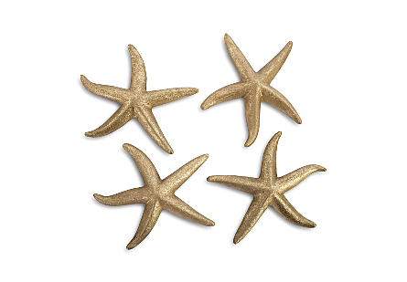 Starfish Gold Leaf, Set of 4, MD