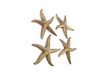 Starfish Gold Leaf, Set of 4, LG