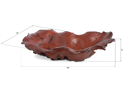 Burled Bowl Faux Rosewood