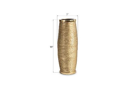 Spun Wire Vase Gold Leaf, MD