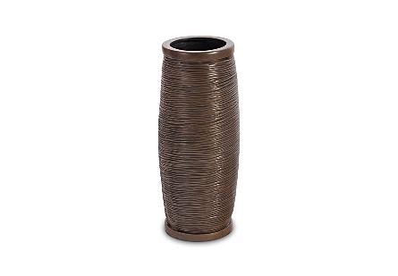 Spun Wire Vase Bronze, SM
