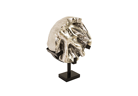 Round Root Sculpture Silver Leaf